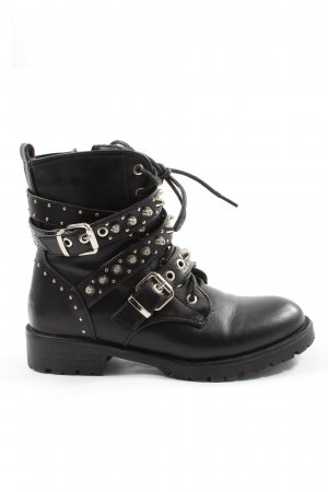 SDS Lace-up Boots black casual look