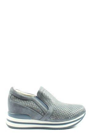 SDS Wedge Sneaker blau-weiß Allover-Druck Casual-Look