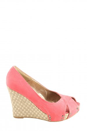 SDS Wedge Sandals pink casual look