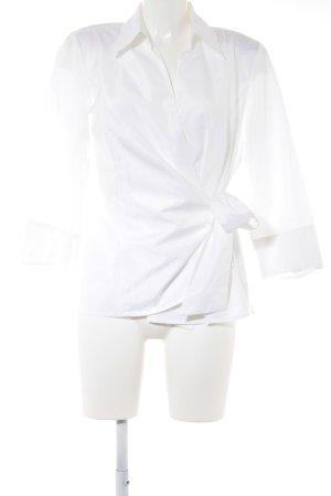 SE Stenau Blusen Blouse portefeuille blanc style d'affaires