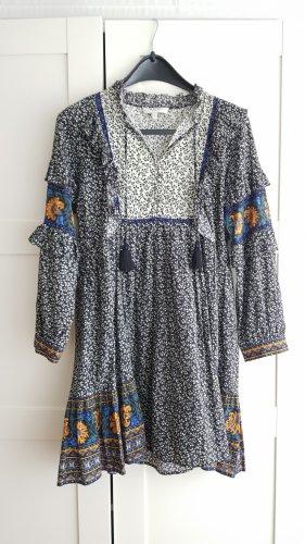 Longsleeve Dress white-black
