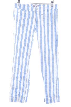 Seafarer Stretch Jeans himmelblau-weiß Streifenmuster Casual-Look