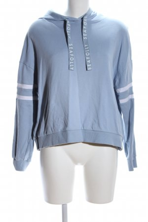 Seafolly Capuchon sweater blauw-lichtgrijs casual uitstraling