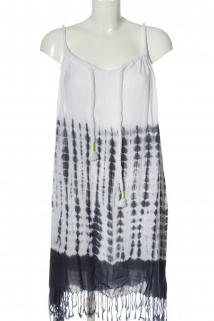 Seafolly Sommerkleid weiß-schwarz Allover-Druck Casual-Look