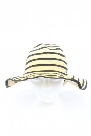 Seafolly Straw Hat natural white-black striped pattern casual look