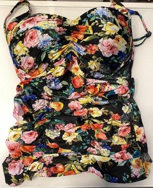 Seafolly Tankini Bikini Top Badeanzug Blumenmuster Gr.10 /12