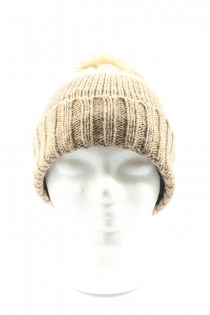 Seasons Knitted Hat natural white cable stitch casual look