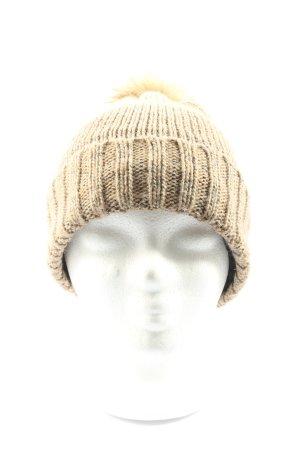 Seasons Chapeau en tricot blanc cassé torsades style décontracté