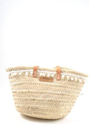 Seastar Bolso tipo cesta amarillo pálido look casual