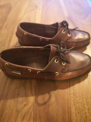 Sebago Zapatos de marinero marrón-marrón oscuro