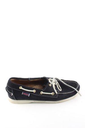 Sebago Zapatos de marinero negro look casual