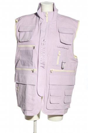 SEBNEMGUNAY Chaleco deportivo lila letras impresas look casual