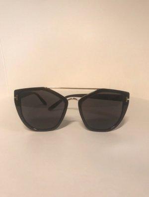 Hoekige zonnebril zwart-goud