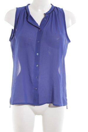 Second Female ärmellose Bluse blau Business-Look