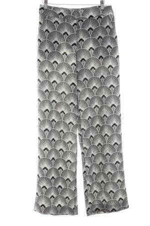 Second Female Pantalon «Baggy» blanc cassé-noir imprimé allover