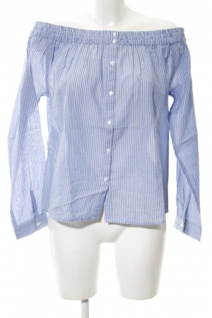 Second Female Carmen-Bluse kornblumenblau-weiß Streifenmuster Casual-Look