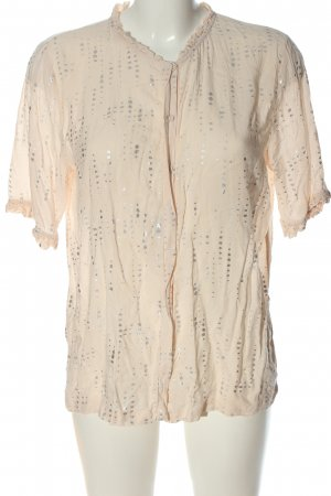 Second Female Hemd-Bluse creme-silberfarben Allover-Druck Casual-Look