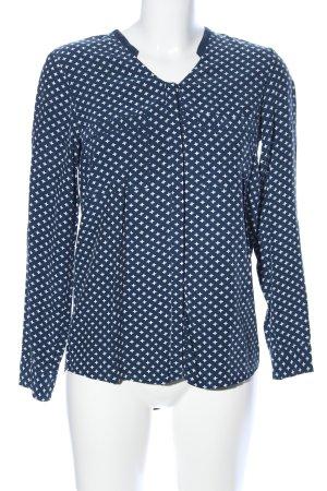 Second Female Hemd-Bluse blau-weiß Allover-Druck Business-Look