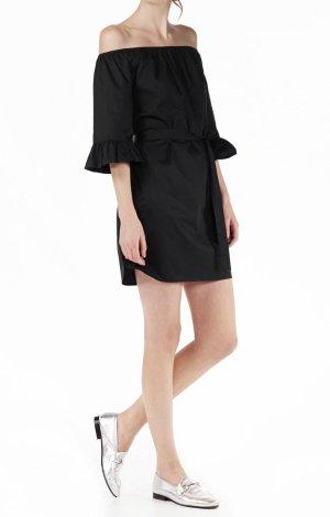 Second Female Kleid Sommerkleid Carmen-Ausschnitt schwarz Gr.M