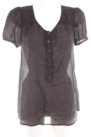 Second Female Kurzarm-Bluse schwarz Elegant