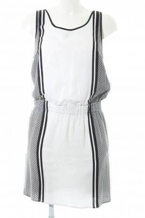 Second Female Kurzarmkleid weiß-schwarz abstraktes Muster Elegant