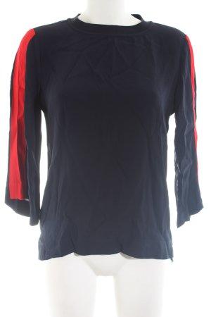Second Female Langarm-Bluse blau-rot Casual-Look
