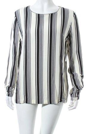Second Female Langarm-Bluse creme-schwarz Streifenmuster schlichter Stil