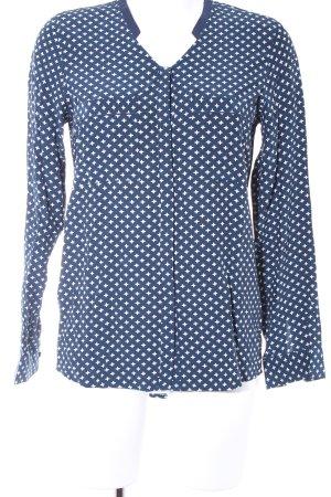 Second Female Langarm-Bluse dunkelblau-weiß Casual-Look