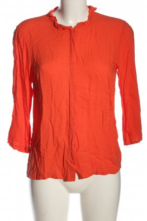 Second Female Langarm-Bluse hellorange Allover-Druck Casual-Look