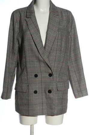 Second Female Long Blazer white-black allover print business style