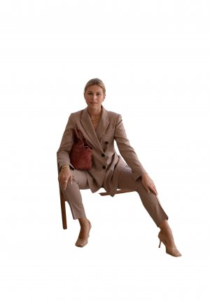 Second Female Long-Blazer Karomuster Business-Look