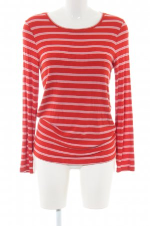 Second Female Longsleeve rot-pink Streifenmuster Casual-Look