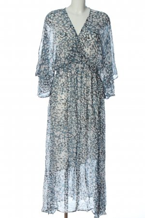 Second Female Maxi Dress blue-white abstract pattern casual look