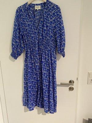 by second female Sukienka midi biały-niebieski