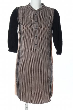 Second Female Midikleid schwarz-creme grafisches Muster Business-Look