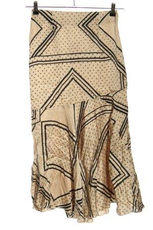 Second Female Midirock creme abstraktes Muster Elegant