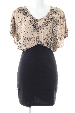 Second Female Mini vestido crema-negro elegante
