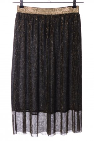 Second Female Pleated Skirt black-gold-colored flecked casual look