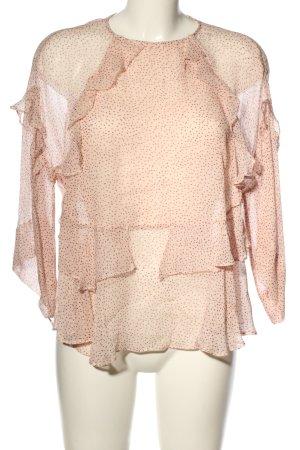 Second Female Schlupf-Bluse pink-braun Allover-Druck Casual-Look