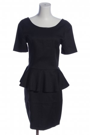 Second Female Peplum jurk zwart casual uitstraling