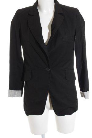 Second Female Smoking-Blazer schwarz-weiß Streifenmuster Business-Look
