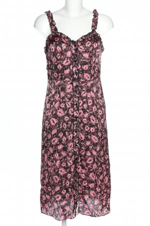 Second Female Sommerkleid schwarz-pink Blumenmuster Casual-Look