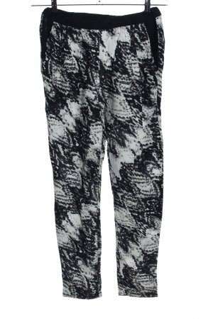 Second Female Jersey Pants black-white abstract pattern casual look