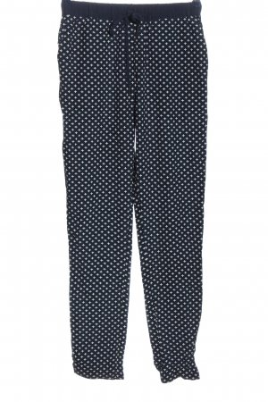 Second Female Jersey Pants blue-white allover print casual look