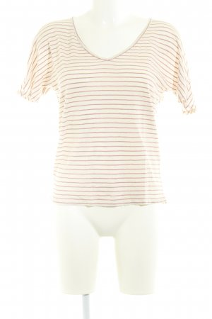 Second Female T-Shirt creme-apricot Streifenmuster Casual-Look