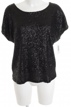 Second Female T-Shirt schwarz Paillettenverzierung