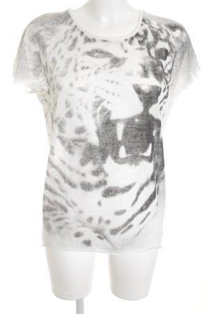 Second Female T-Shirt weiß-dunkelgrau abstraktes Muster