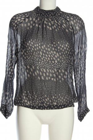 Second Female Transparent Blouse black abstract pattern business style