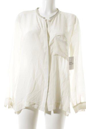 Second Female Transparenz-Bluse creme Elegant