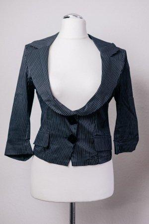 Seduction Italy Blazer Jacke schwarz weiß Nadelstreifen Gr. 38 S